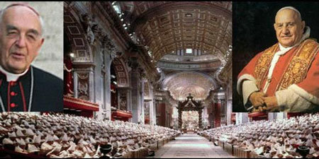 P. Roberto Tucci y Papa Juan XXIII