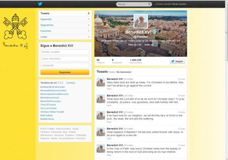 Benedicto XVI y Redes Sociales