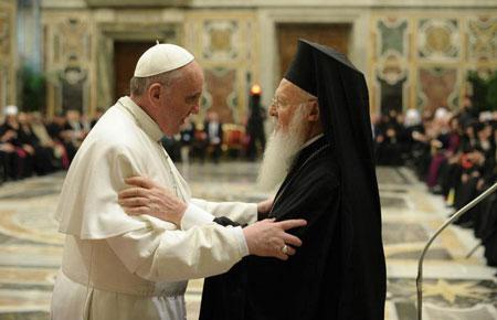 Papa Francisco y Bartolome I