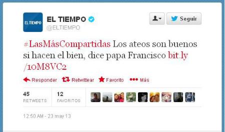 Twit Papa Ateos El Tiempo