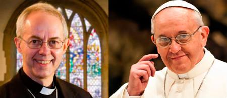 Justin Welby y el Papa Francisco
