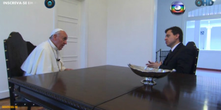 Papa Francisco entrevista Camarotti - OGlobo