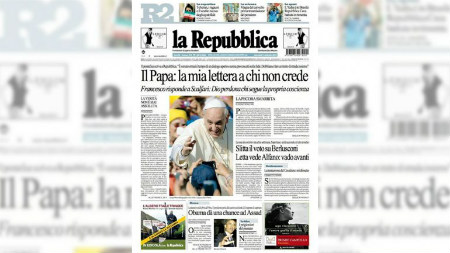 Carta Papa Francisco a Scalfari
