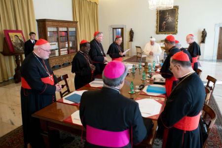 Reunión del Papa Francisco con su consejo de cardenales