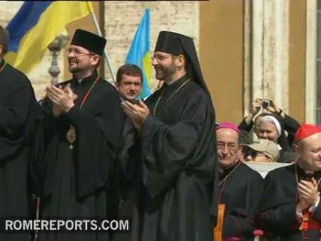 Papa Francisco recibe a greco católicos de Ucrania