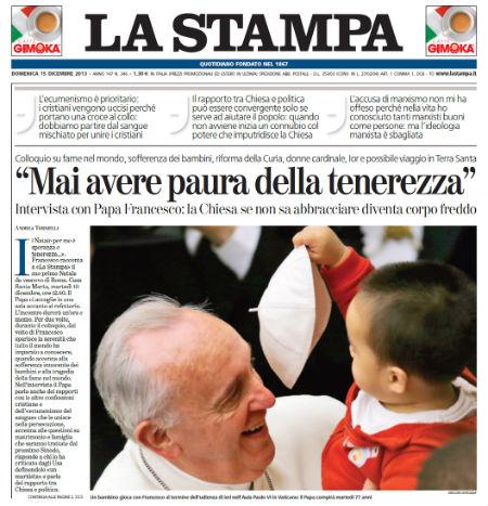 Entrevista Papa Francisco La Stampa