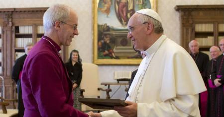 Papa Francisco y el primado anglicano
