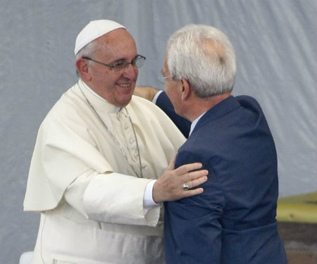 Papa Francisco y pastor Giovanni Traettino