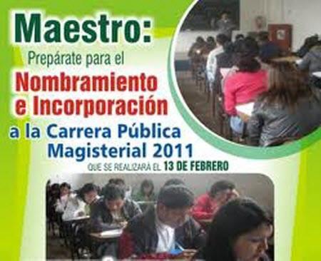 Convocatoria a la Carrera Pública Magisterial