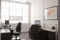 Oficina con vidrio translucido