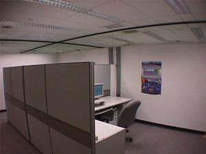 Luminarias utilizadas en la iluminación de la oficina