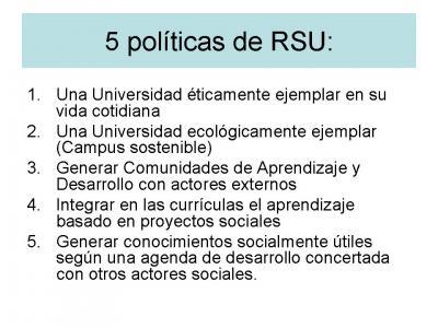 5 politicas RSU