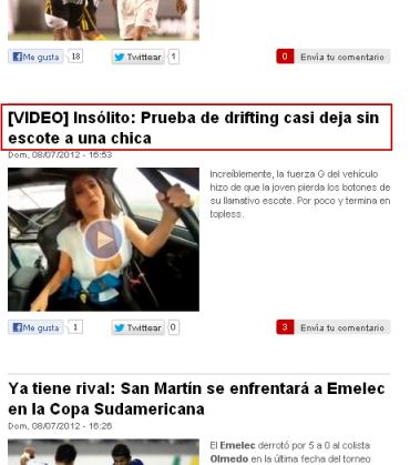 Titular de noticia de Libero.pe