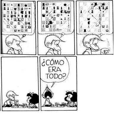 Mafalda y el Ajedrez