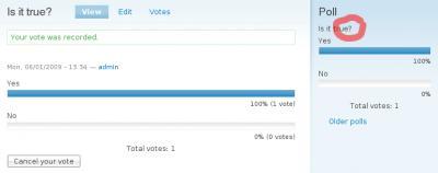 poll drupal