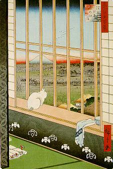 Hiroshige: Celebration of the Cock Festival in the Ricefields near Asakusa