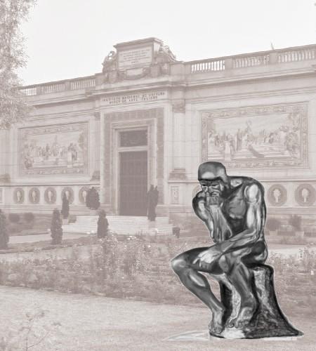 Pensador de Rodin y Dalí en el Museo de Arte Italiano de Lima