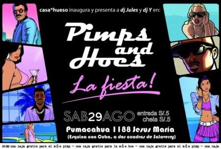 PIMPS & HOES fiesta de casa*hueso