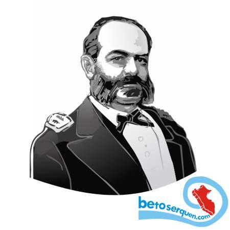 MIGUEL GRAU SEMINARIO, ALMIRANTE DE LA MARINA DEL PERU, CABALLERO DE LOS MARES, ILUSTRACION DE BETO SERQUEN