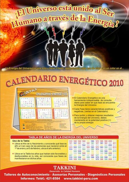 CALENDARIO ENERGÉTICO TAKKINI PERU 2010