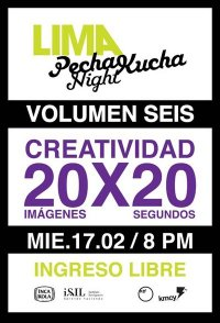 PECHA KUCHA VOL 6 LIMA PERU PK NIGHT