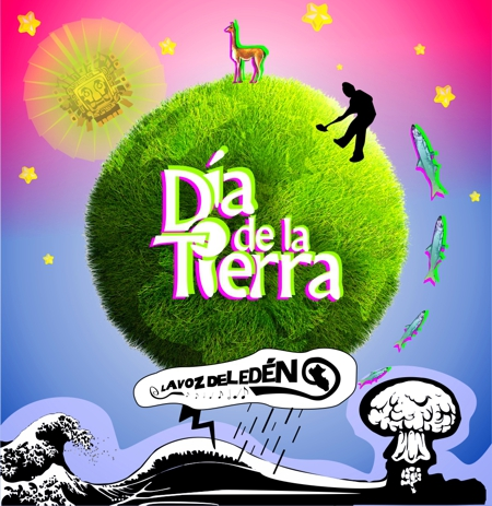 DIA DE LA TIERRA 22 ABRIL APRIL EARTH DAY DISEÑO DIBUJO
