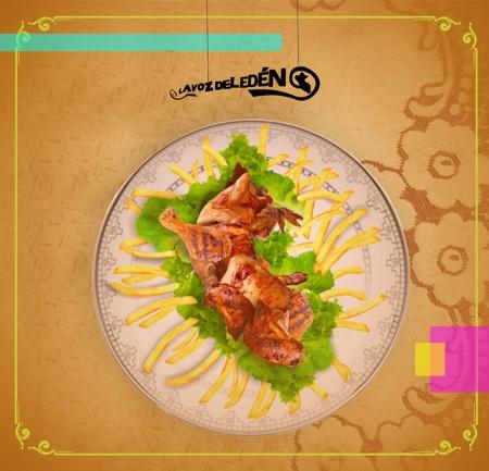 dia del pollo a la brasa 21 julio food art arte catolica pucp diseño beto serquen la voz del eden