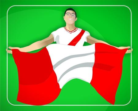 seleccion peruana peru futbol bandera aficion clasificatorias eliminatorias partido argentina venezuela gol farfan vargas pizarro guerrero beto serquen