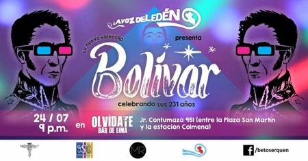 simon bolivar cancion homenaje videoclip beto serquen la voz del eden