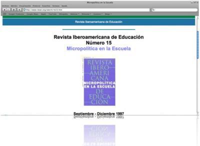 Micropolítica en la Escuela en la RIE
