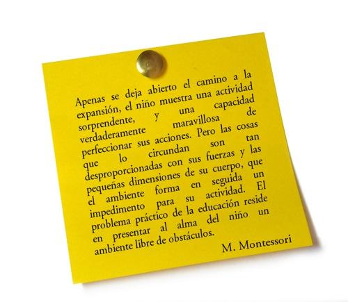 Pensamiento de María Montessori