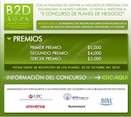 II CONCURSO 2010 : PLANES DE NEGOCIO B2D
