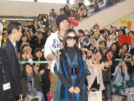 Jerry Yan y Ariel Lin en Tokio