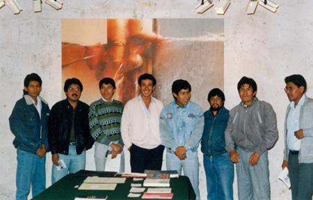 Grupo de egresados y docentes de la ESPA Carlos Baca Flor - 1988