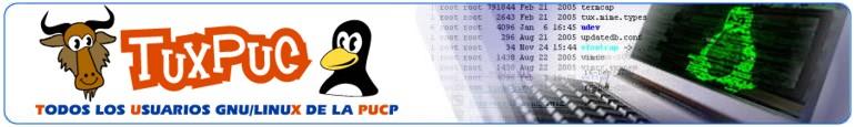 Grupo TuxPUC fuente:http://tuxpuc.pucp.edu.pe/templates/plantillaTuxpuc/images/cabecera_tuxpuc.jpg