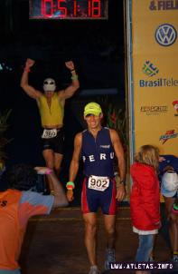 Aldo Baglietto en un competencia de triatlón.