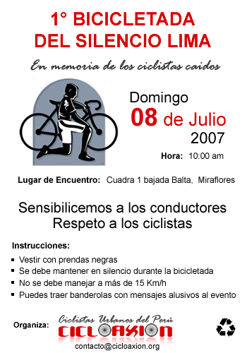 Bicicletada en Silencio fuente: http://cicloaxion.org/images/imagenes/volante.png