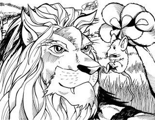 León y el ratón