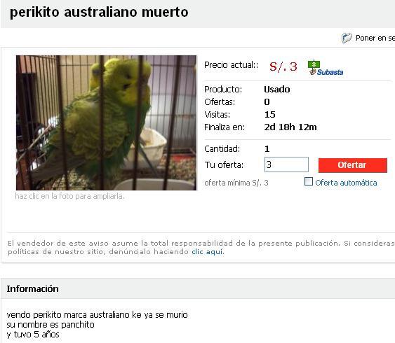 Oferta Periquito