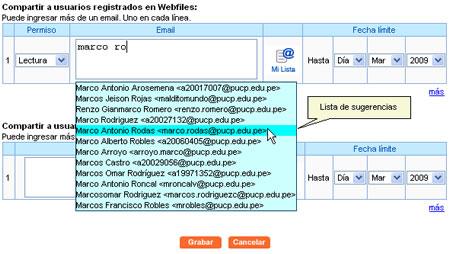 Webfiles PUCP